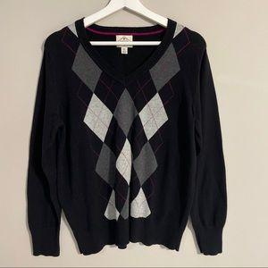 🧥St. John's Bay Argyle V-Neck Sweater